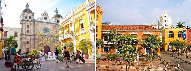 Plaza San Pedro Claver y Plaza Santa Teresa - Plazas en Cartagena