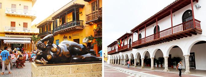 Plaza Santo Domingo y Plaza De La Aduana - Plazas De Cartagena - Hoteles en Cartagena de Indias